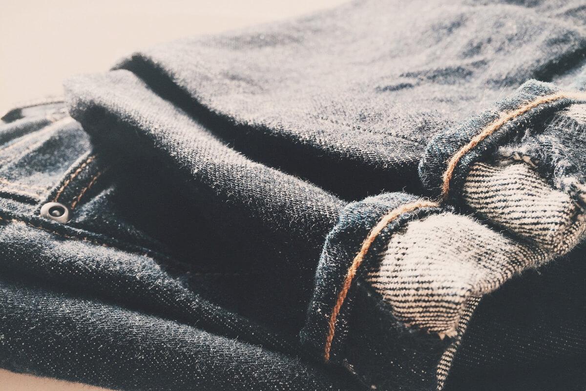 Nahaufnahme einer Jeans-Hose