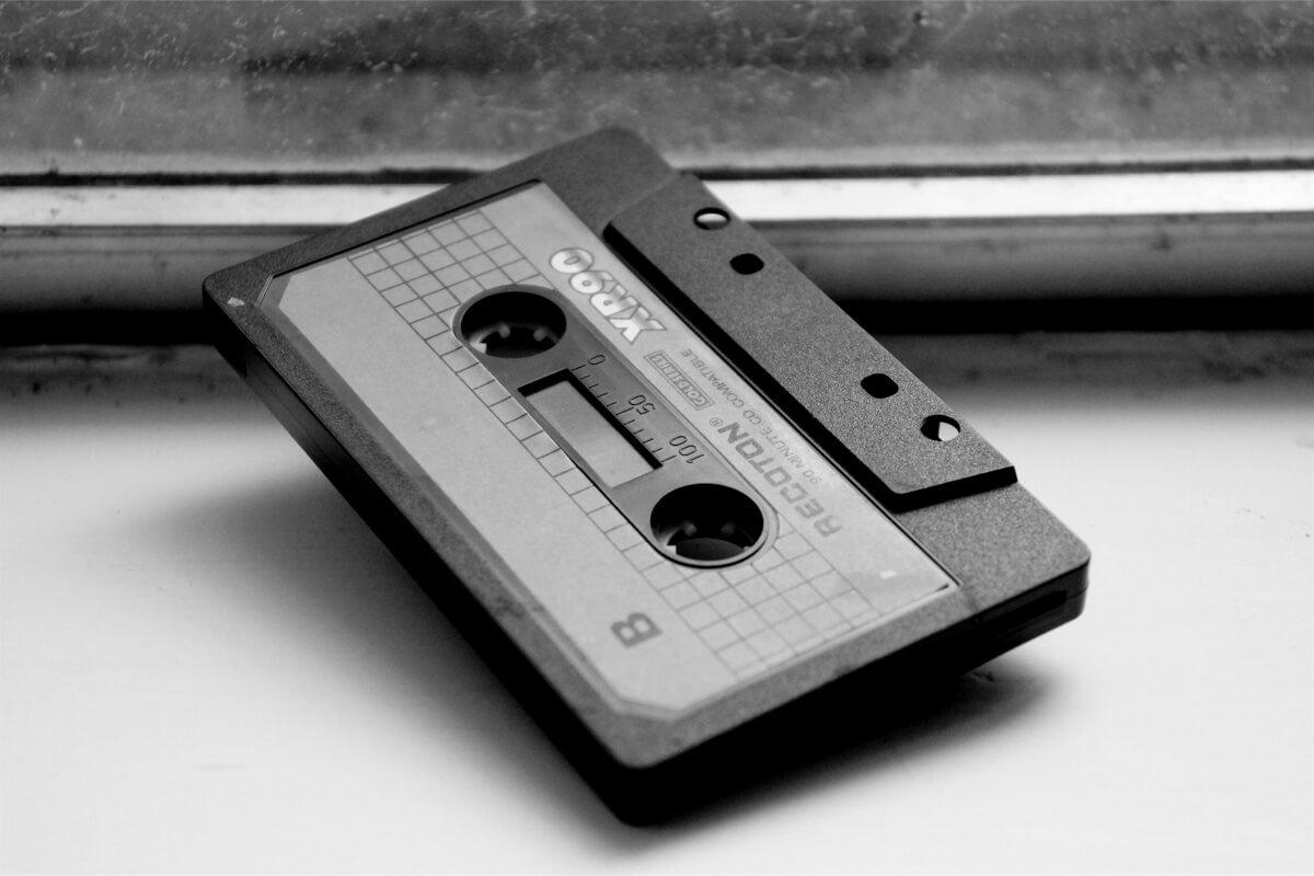 Aufnahme einer 90-Minuten-Leerkassette